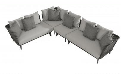 Belize Rope Large Corner Sofa Set