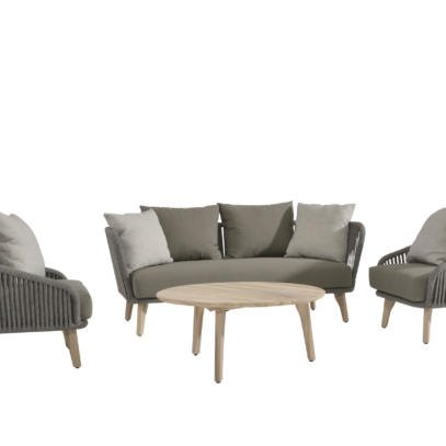 Santander Rope Lounge and Gabor Coffee Table Set