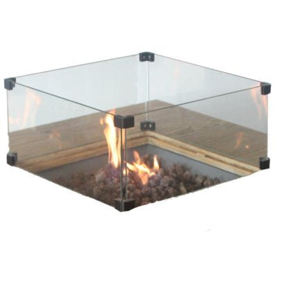 Altair firepit Glass Screen