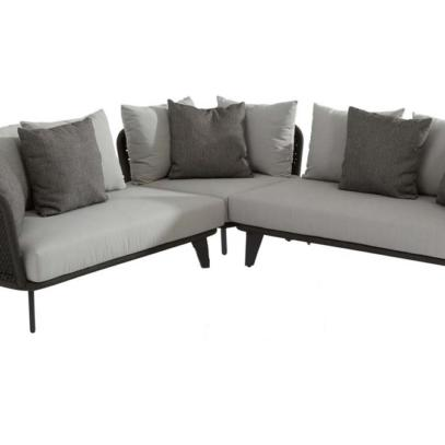 Belize Rope Large Corner lounge group with 2 Gabor coffee tables