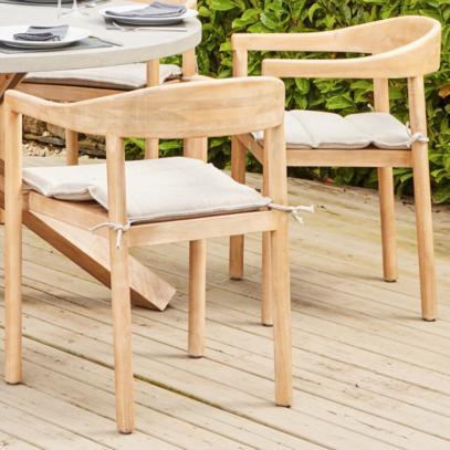 Bern Light Teak Dining Chair (set of 2)