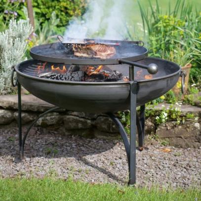Plain Jane Firepit with Swing Arm