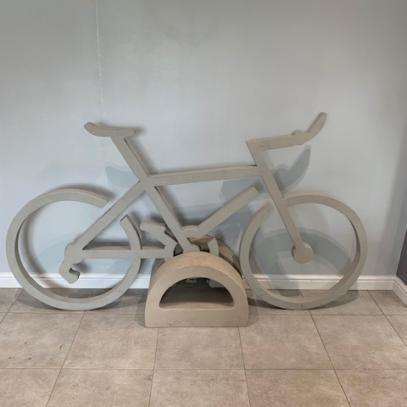 Grey Bicycle with Buff Stand